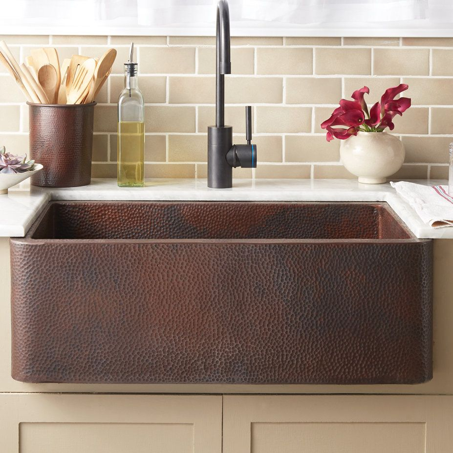 Related image Copper kitchen sink, Farmhouse sink