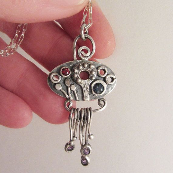 Hanging Garden Pendant/Necklace • Sterling Silver • by LiminalArts on Etsy