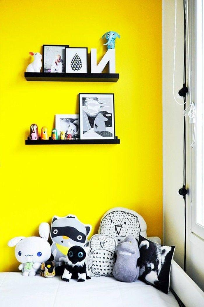 gelbe akzentwand im zimmer wandfarben vorschlge zum inspirieren - Wandfarben Vorschlage