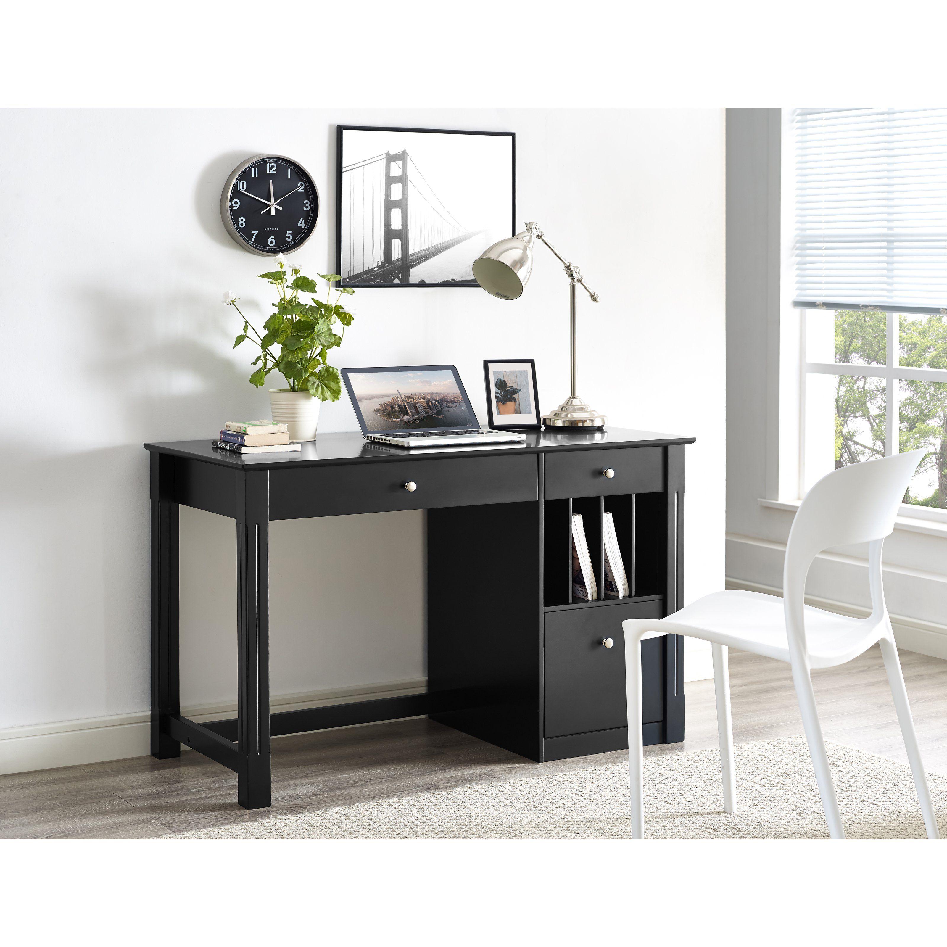Walker Edison Home Office Deluxe Wood Storage 48 In