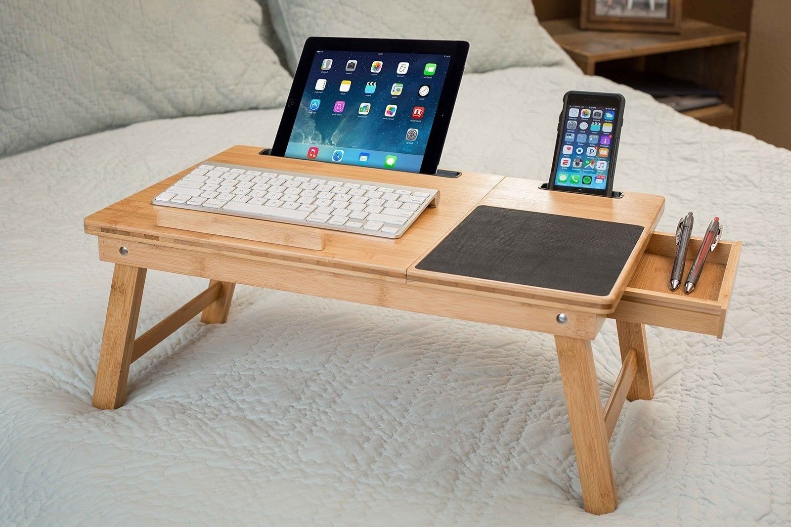 Color Natural This Home Laptop Bed Tray Is A Great Addition To Any Sofa Or Chair The Allows You Eat Work On