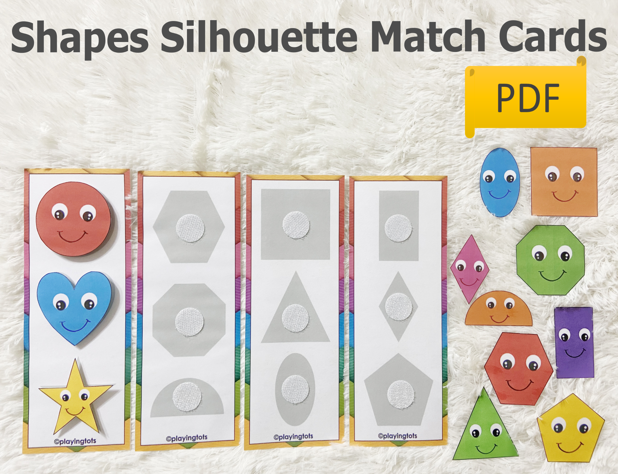 2d Shapes Silhouette Shadow Matching Activity In