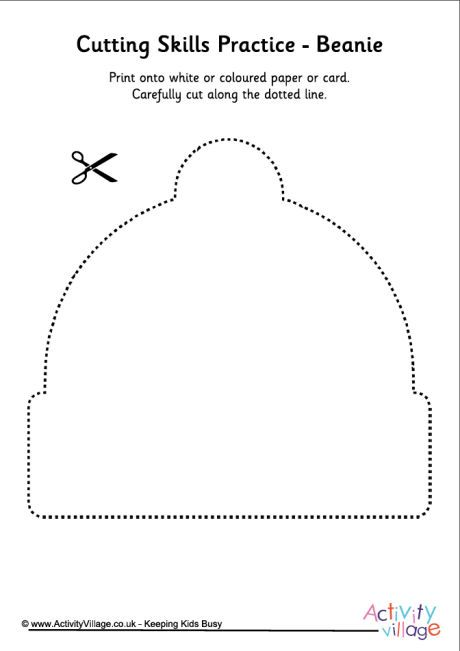 Cutting winter shapes beanie Pinterest Shapes