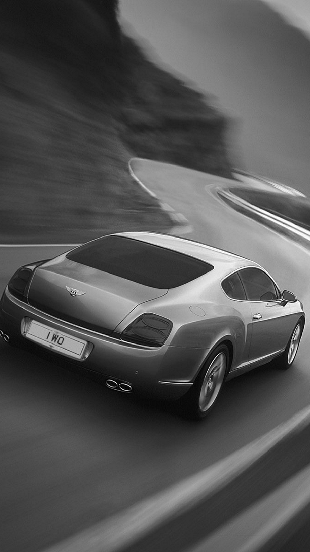 Bentley Continental Gt Black And White Android And Iphone Wallpaper