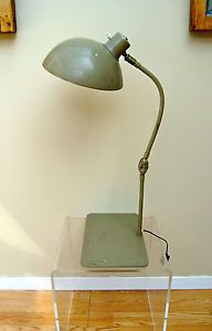 Vintage 50 S French Table Desk Lamp Mid Century Modernist Industrial