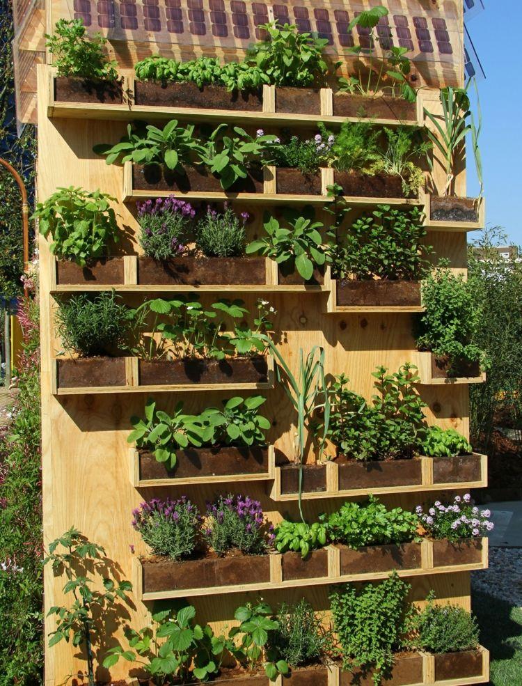 Huerto vertical 34 maneras de sembrar vegetales huertos for Idee per realizzare una fioriera