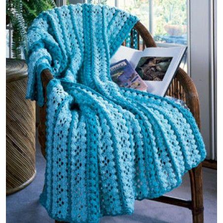 Cluster Mile-A-Minute Crochet Afghan ePattern | Afghans, Crocheted ...