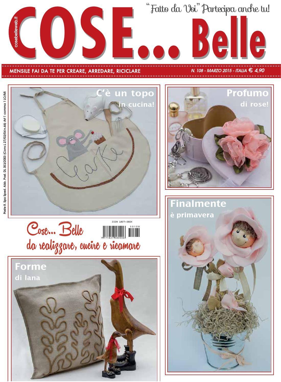 Cose belle e cose per creare marzo 2015 magazines for Cose per cucinare 94