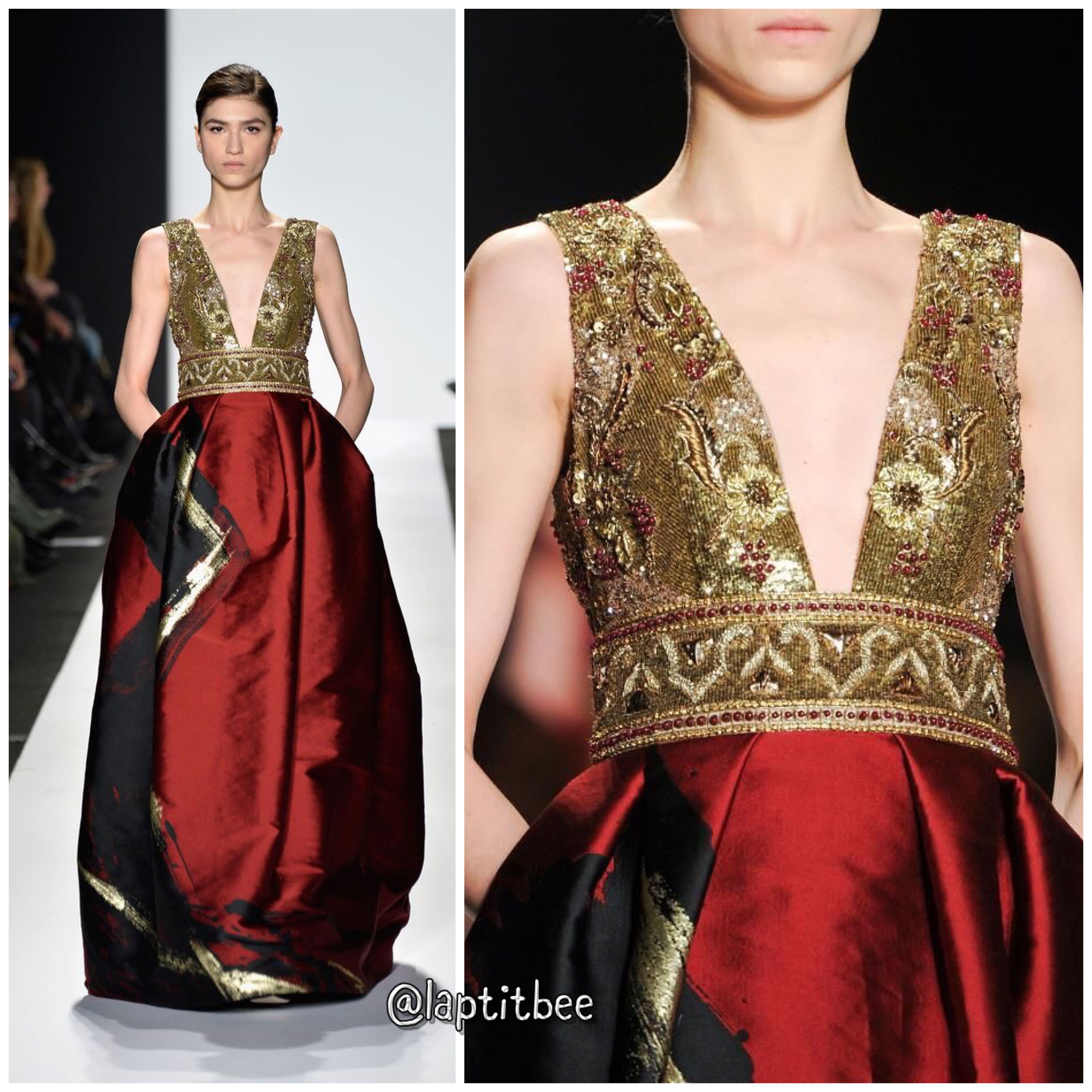 Red Dress With Details Fashion Week Haute Couture Mode