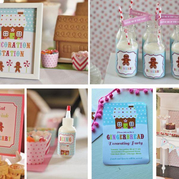 Gingerbread Decorating Christmas Party Set | The Homespun Hostess