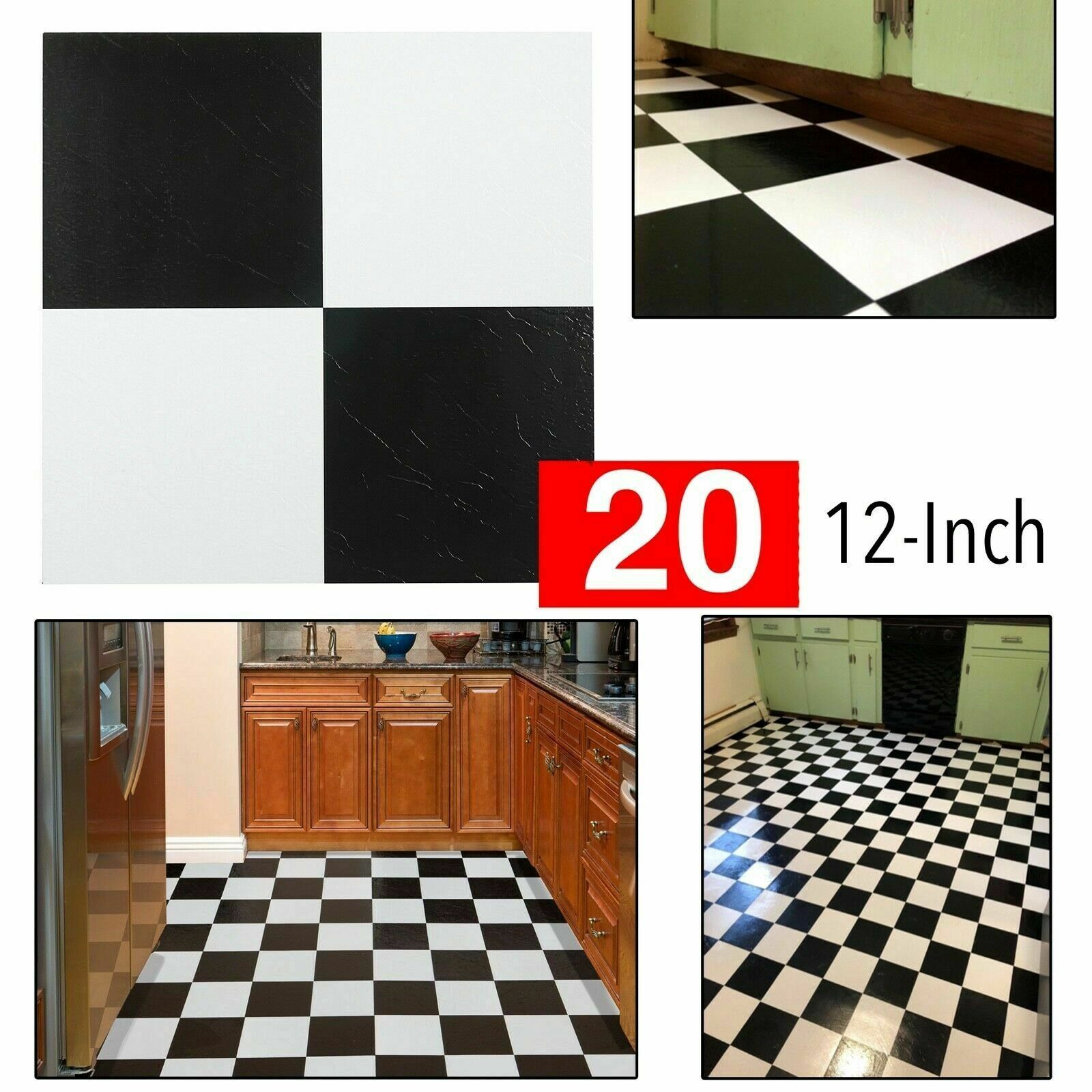 Vinyl Flooring Black And White Tiles Kitchen Floor Thick Peel N Stick Vinyl Flooring Ideas Of Vinyl Flooring Vin In 2020 Vinyl Flooring Kitchen Flooring Flooring