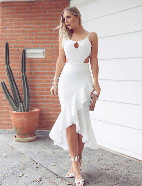 Ruffle bodycon sleeveless dress