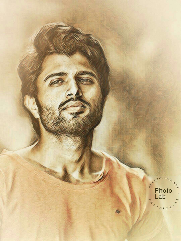 Pin By Pooja Y A On Vijay Devarakonda Celebrity Drawings Pencil Sketch Portrait Vijay Devarakonda
