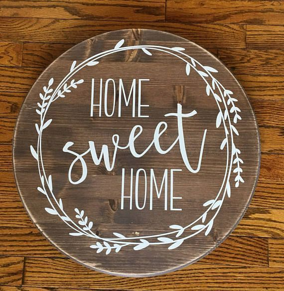Photo of Home Sweet Home Round Wood sign – Farmhouse Decor – Rustic Decor – Home Decor