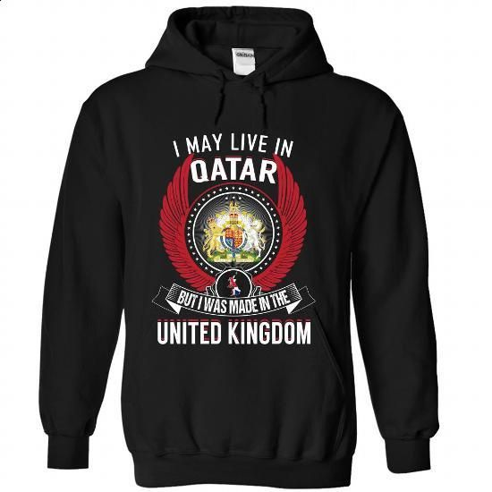 Qatar - United Kingdom - #sweatshirts for men #funny hoodies. GET YOURS => https://www.sunfrog.com/States/Qatar--United-Kingdom-venweeyqnn-Black-Hoodie.html?60505
