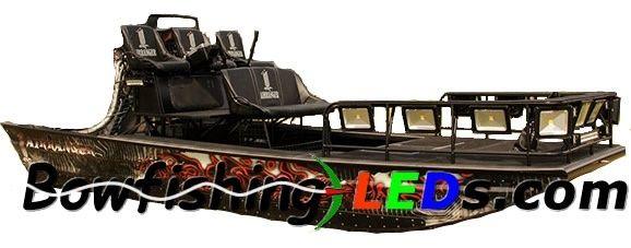Bowfishing Led Floodlight 100w Slim Case 110v Boat Lighting 4pcs Pack Bowfishing Boat Lights Mud Boats