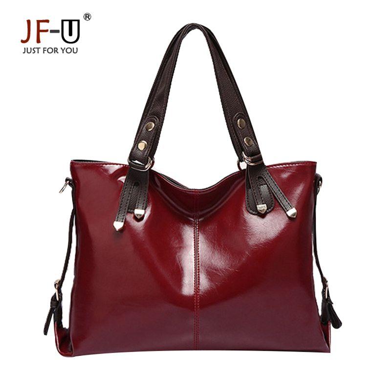 JF-U 2017 Women Casual Luxury Handbag Tote Genuine Leather Shoulder Bag  Designer Handbags High df4bc9c738aa1