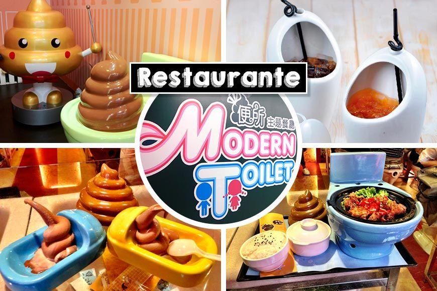 Restaurante Modern Toilet. Comer sentado sobre un retrete es una de esas cosas que nunca te ocurriría hacer, sin embargo en Taiwan han creado este original restaurante temático