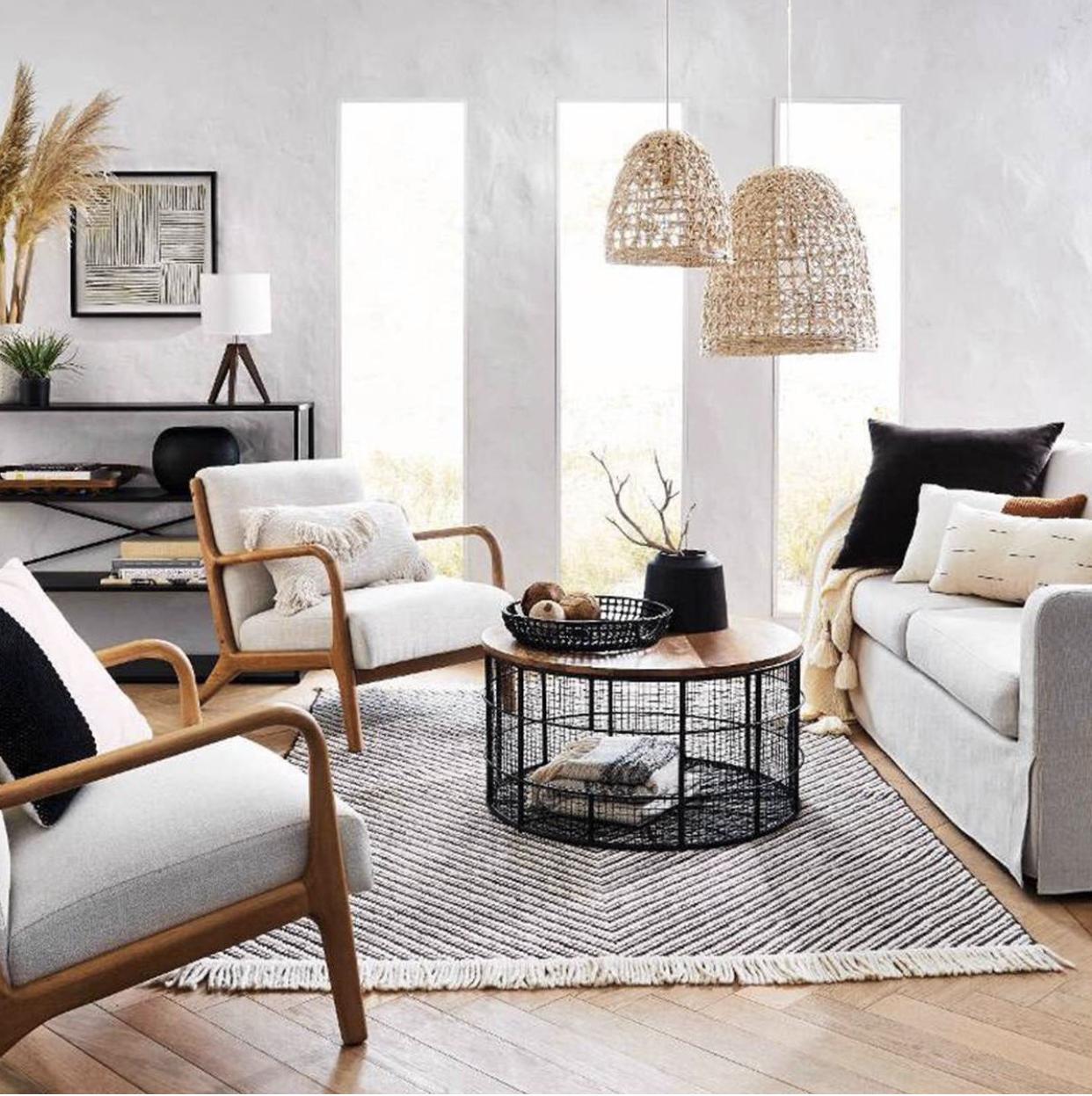 Large Seagrass Light Pendant Light Brown Includes Energy Efficient Light Bulb Opalhouse In 2020 Natural Living Room Natural Living Room Furniture Living Room Decor Furniture