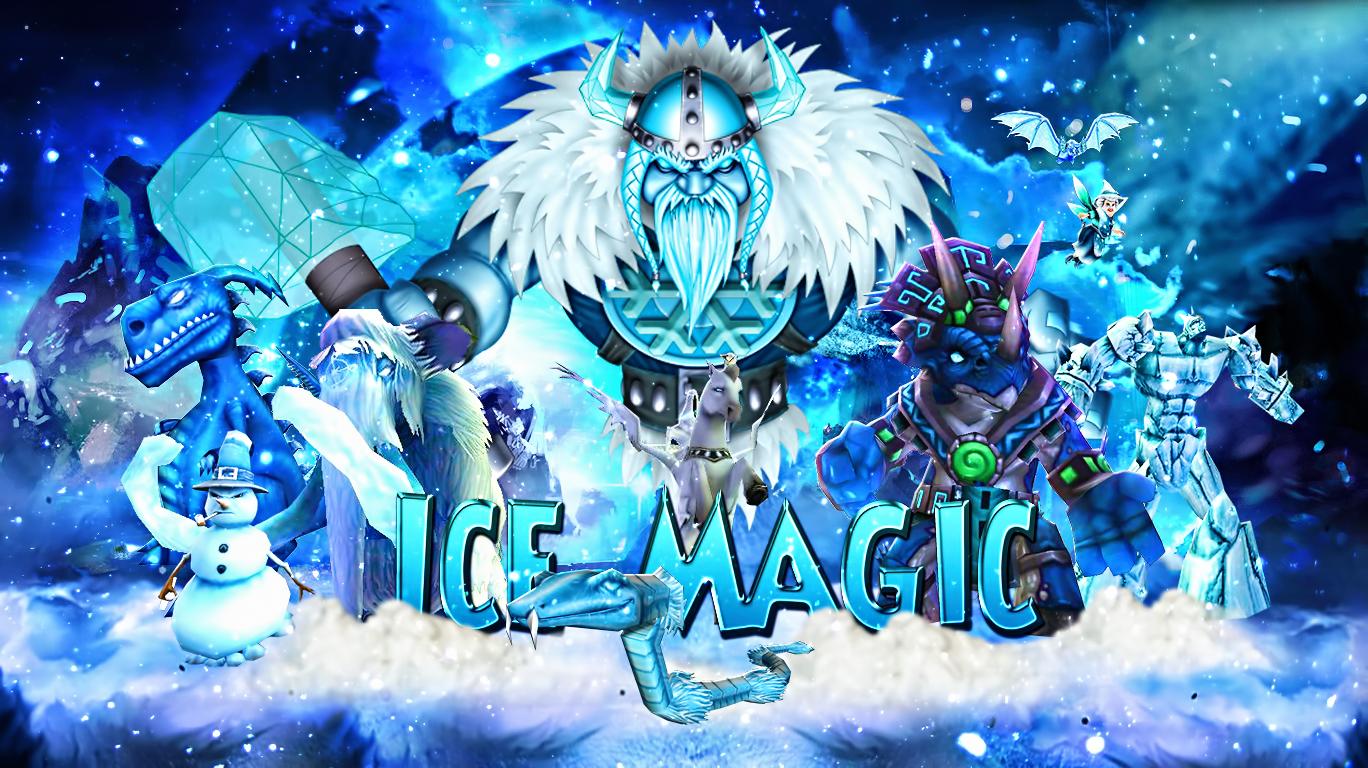 Ice Magic Wizard101 Cool Drawings Wallpaper
