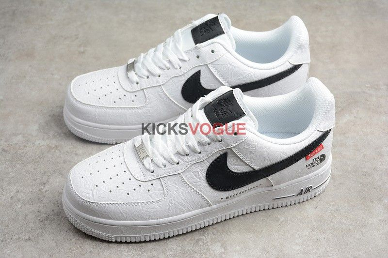 Supreme X The North Face X Nike Air Force 1 White Custom Red Nike Shoes Mens Nike Shoes Latest Nike Shoes
