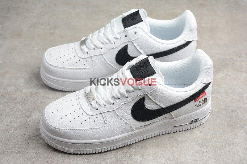 Supreme x The North Face x Nike Air Force 1 White Custom