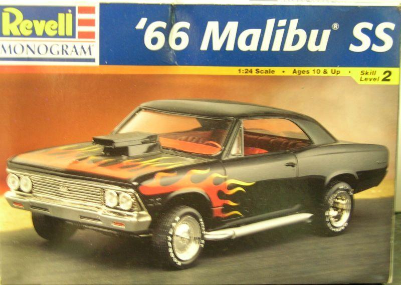 Revell 66 Malibu Ss Box Art Model Car Hobby Box Art