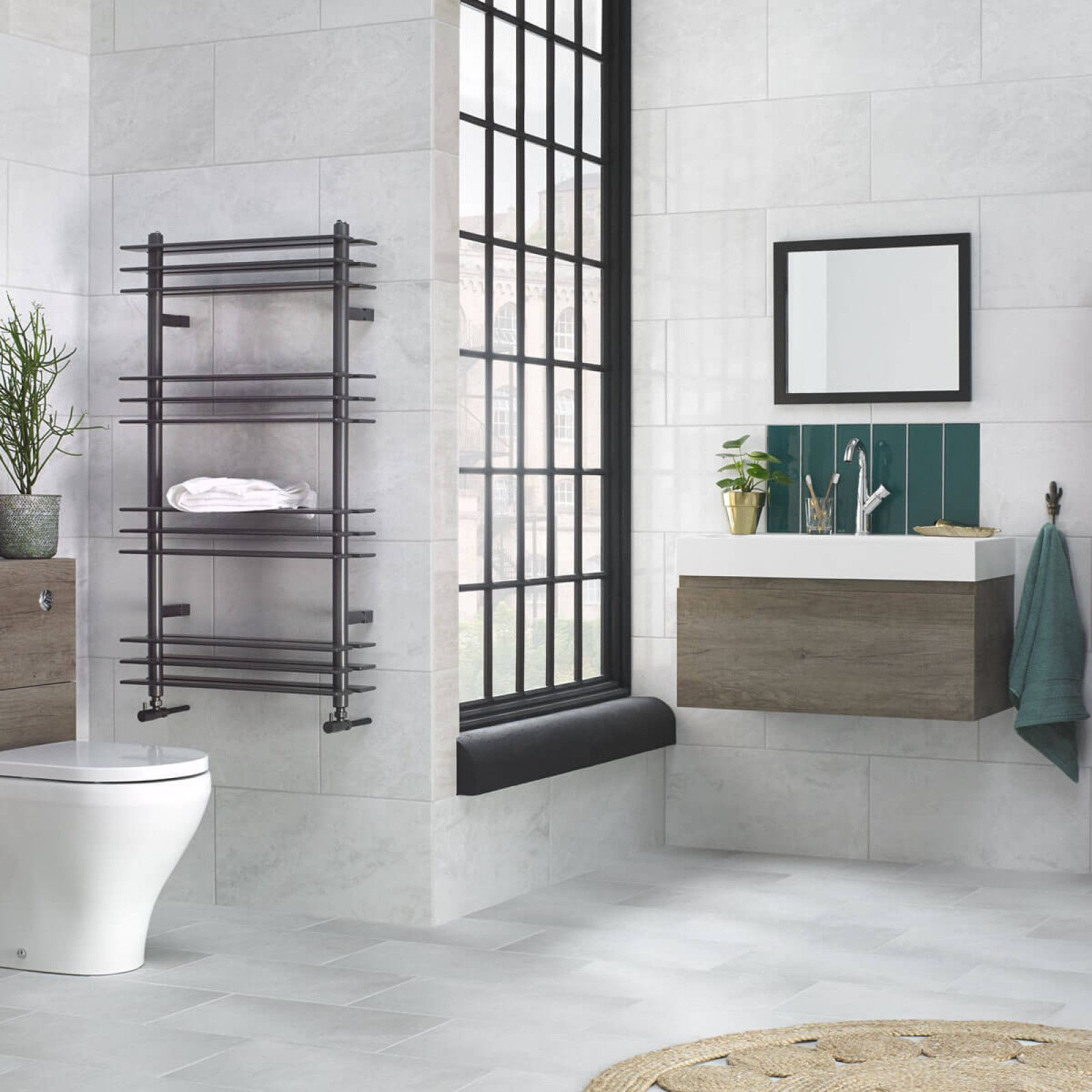 Create a subtle backdrop to any bathroom with this subtle stone ...