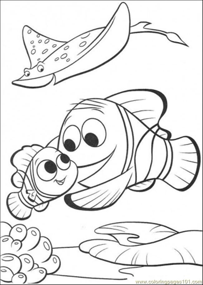 Merlin Is Finding Nemo printable coloring page for kids and adults ...