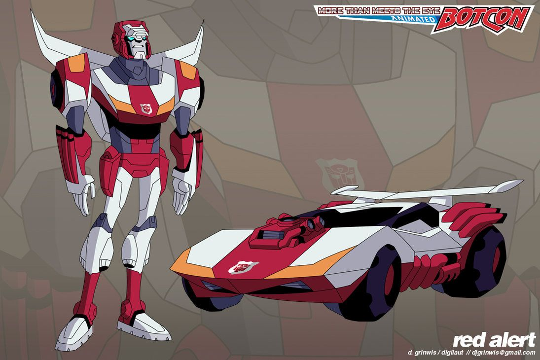 Tfa Mtmte Red Alert By Grinwise Transformers Pinterest