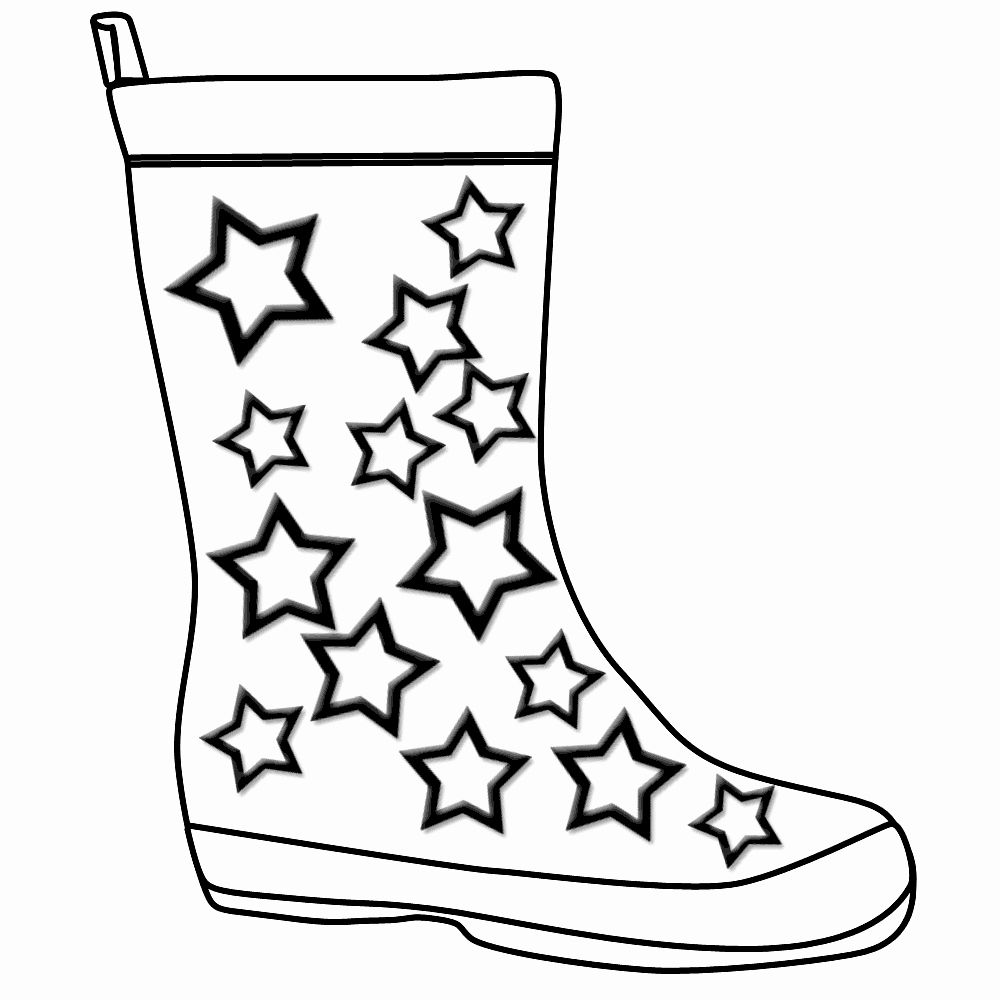 Rain Boots Coloring Page Beautiful Rain Boots Coloring Page