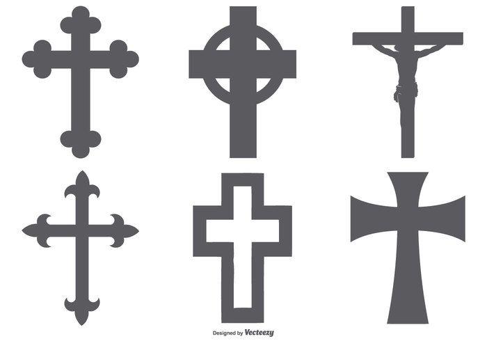 kreuzformen sammlung cross clip art shapes hände vektor vektorgrafik download