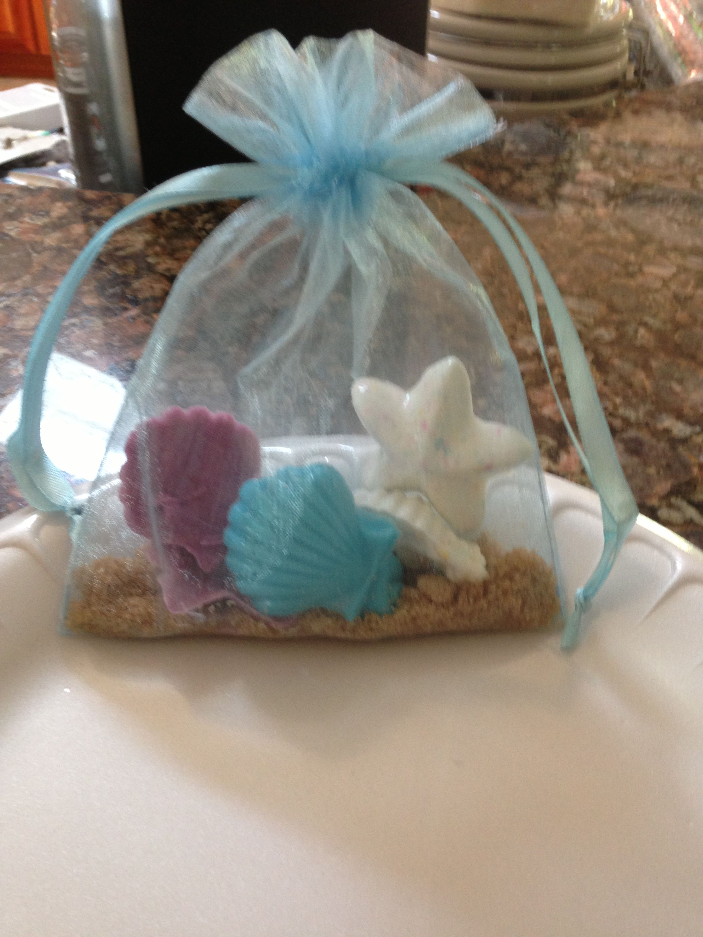 Bridal Shower Favors For A Beach Themed Wedding Chocolate Shaped