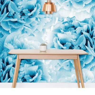 Blue Peonies Dream #1 #floral #decor #art Wallpaper by Anita's & Bella's Art (AnitaBellaArt) from £40.00 per m² #bluepeonies