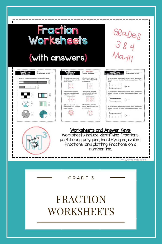 Fraction Worksheets in 2020 Fractions worksheets