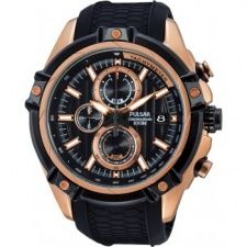 Pulsar Men's Rose Plate Chronograph Watch PV6002X1
