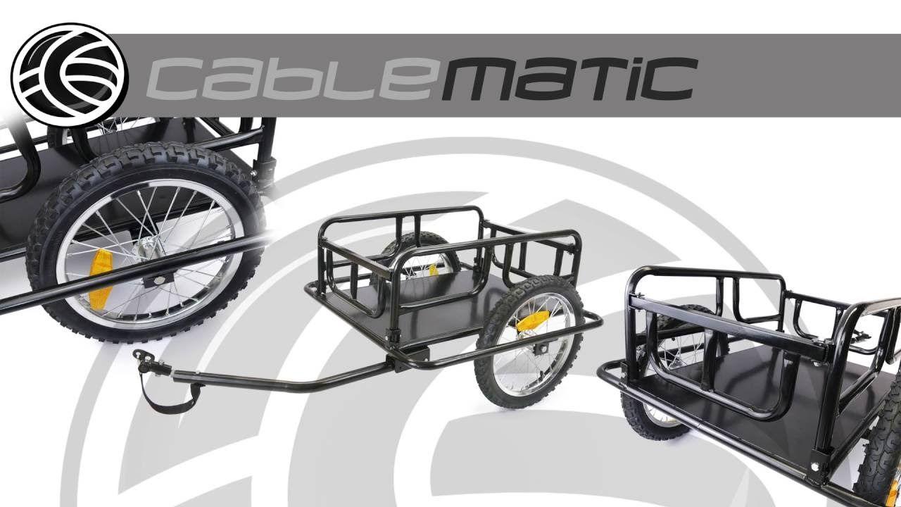 Remolque de bicicleta para carga de 60 Kg plegable distribuido por ...