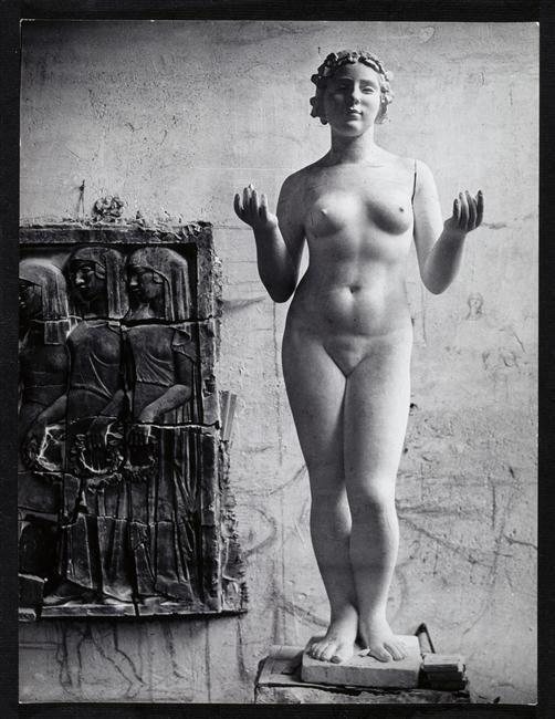 Dans l'atelier d'Aristide Maillol à Marly-le-Roi, photographie de Brassaï