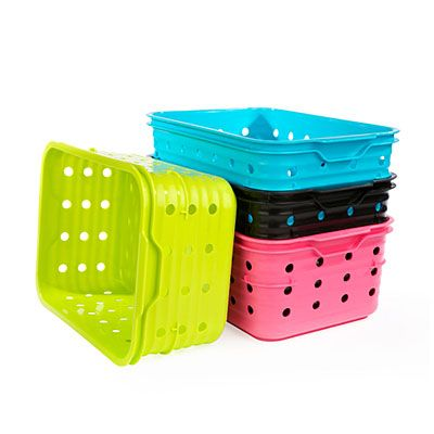 Small Plastic Dot Baskets At Big Lots Home Storage Solutions