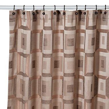 Croscill Metro 70 Inch X 84 Inch Shower Curtain In Bronze
