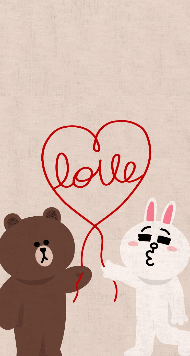 Love Cute Line Characters Iphone Wallpaper Mobile9 Love
