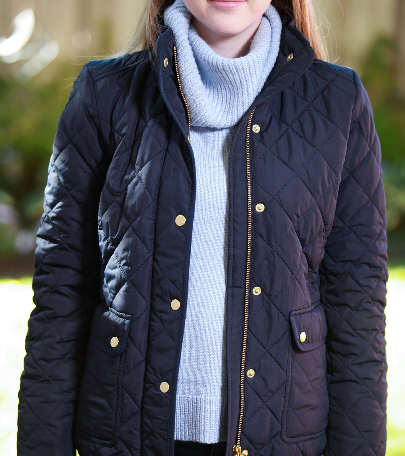 Plaid & Pearls: JCrew Quilted Fall Jacket // Preppy Fall Fashion ... : quilted fall jacket - Adamdwight.com