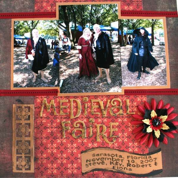 Medieval Times Scrapbook Layout Ideas Pinterest