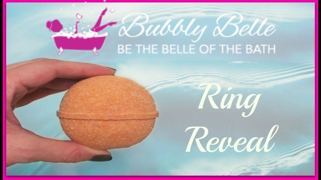 Bubbly Belle Ring Reveal Orange Coco Bath Bomb Bath Bombs Bubbles Reveal