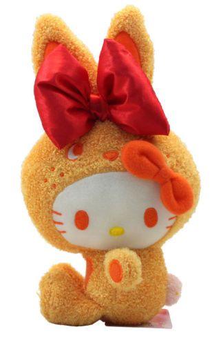 "Hello Kitty 8"" Orange Bunny Stuffed Soft Plush Doll Toy"