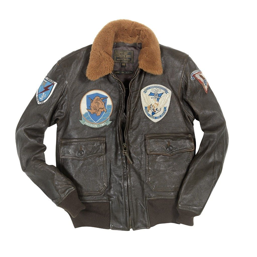 fc246a6c1b9 The Cockpit Vintage Goatskin G-1 With Patches features a hand-distressed  goatskin shell