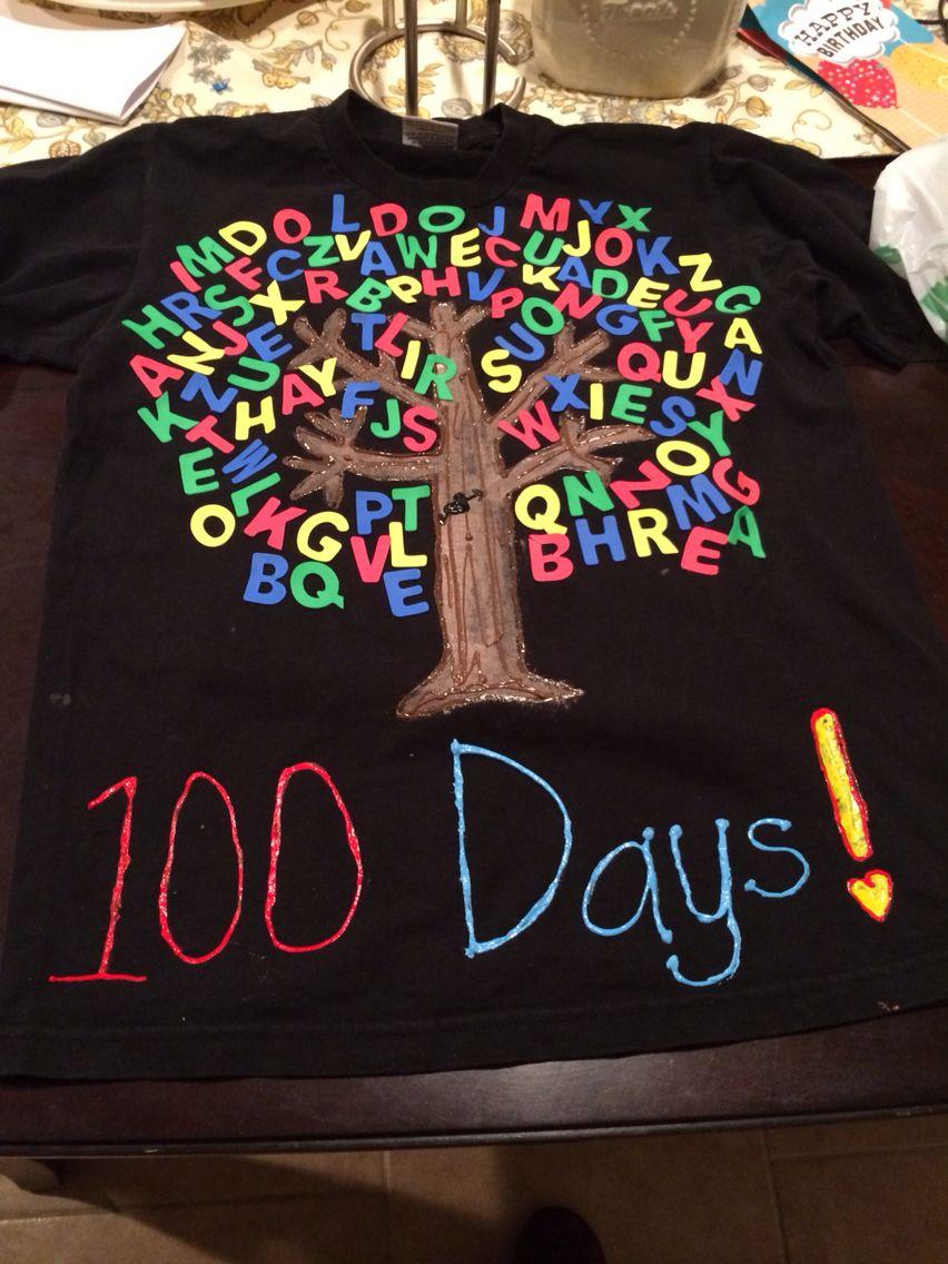 My 100th day of school tshirt kindergarten ideas