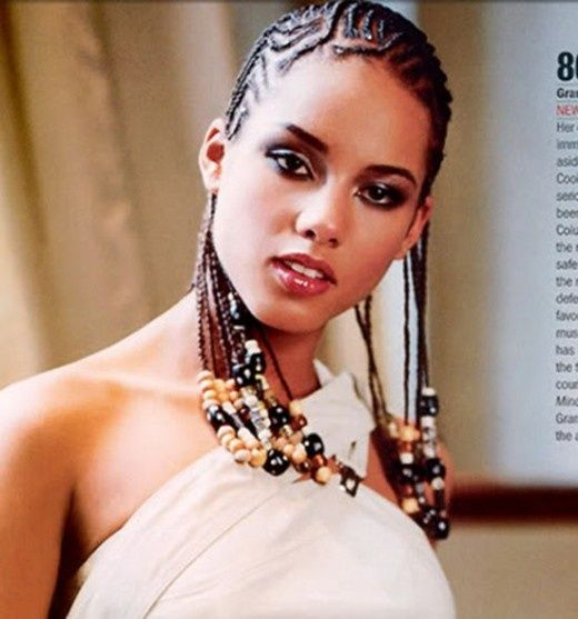 Alicia Keys Cornrow Hairstyles Pictures Alicia Keys Cornrows Hairstyle Cornrow Hairstyles Cool Braid Hairstyles Braided Hairstyles For Black Women
