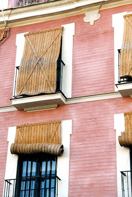 Esparto blinds seville andaluc a windows pinterest for Spanish style window shutters