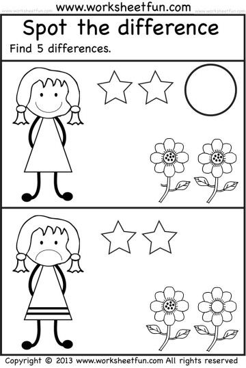 Diferencias Free Kindergarten Worksheets Free Preschool Worksheets Kindergarten Worksheets